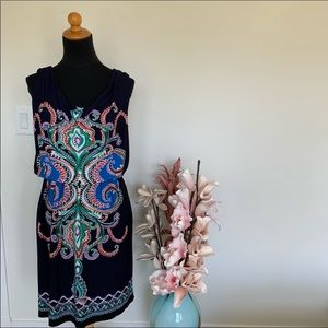 BOGO FREE🎈 Valerie Bertinelli paisley patterned dress size 6